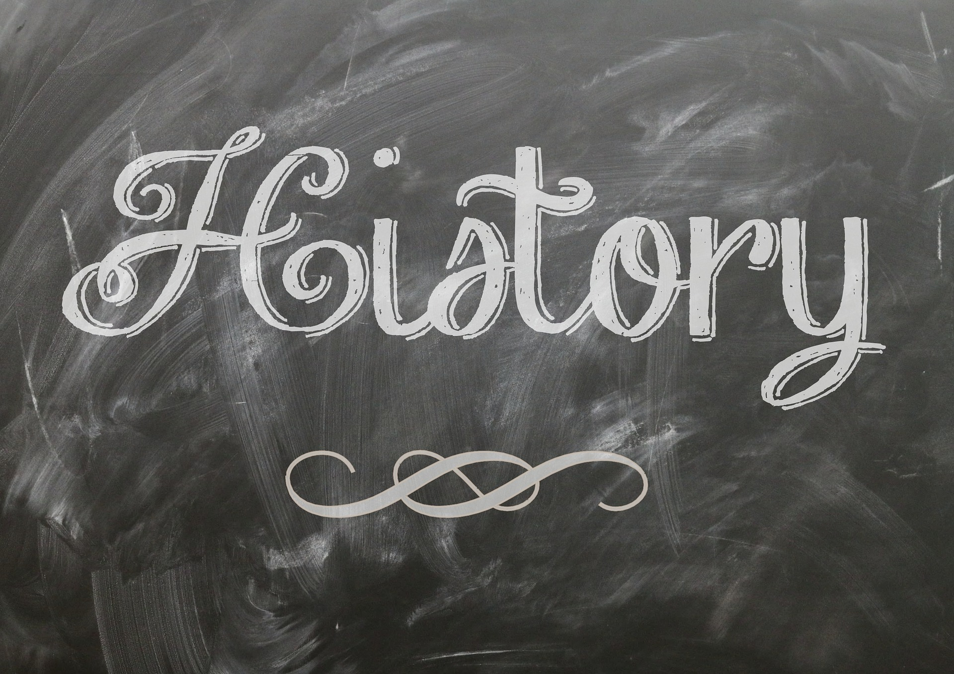 history written on blackboard