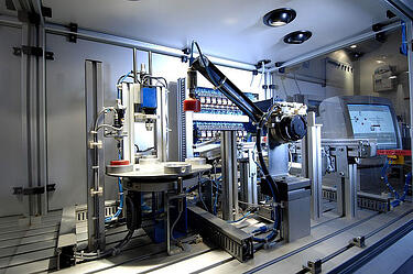 Image of Industry 4.0 industrial technology and interconnected processes.